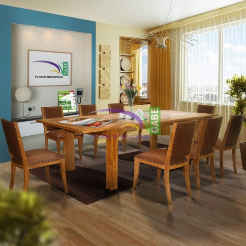 Dining Table Janet Solid Teak Wood
