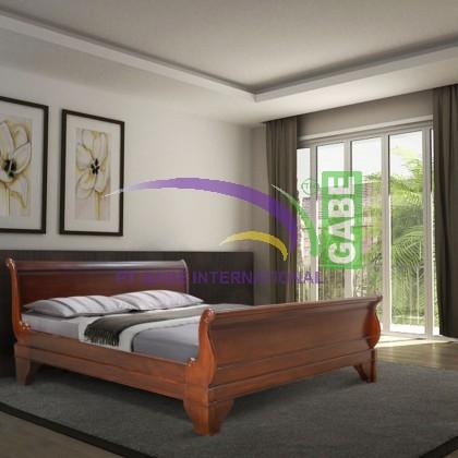 France Sleigh Bed Mahogany