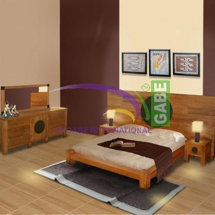Bed Set Minimalist Teak wood