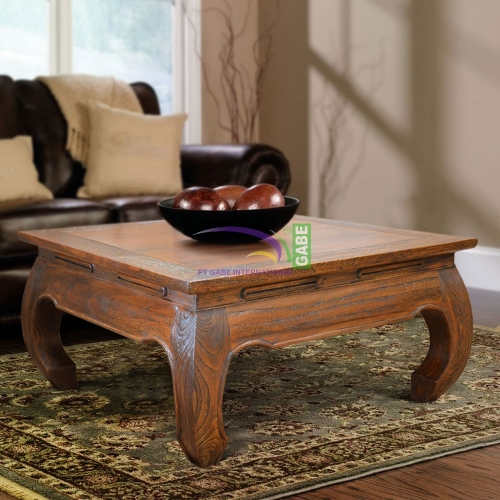 OPIUM TABLE RUSTIC RECTANGLE