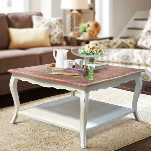 COFFEE TABLE PILY WHITE ANTIQUE