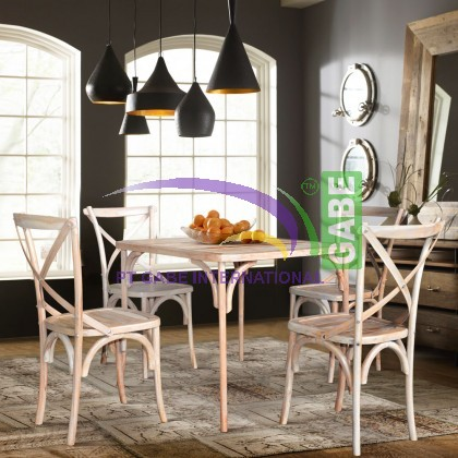 DINING TABLE COWBOY WHITE WASH
