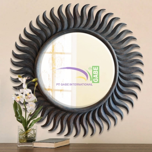 MIRROR WITH CARVING FRAME SUNSHINE