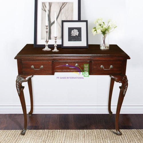 DRESSING TABLE FRENCH ANTIQUE 3 DRAWERS
