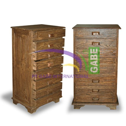 CHEST MAHE MODIFICATION 8 DRAWERS
