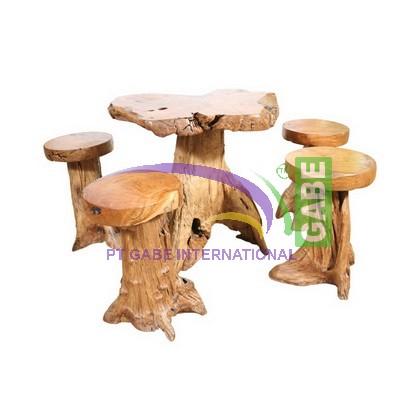WOOD STUMP BAR TABLE